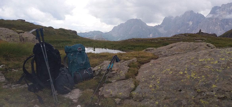 Preparare lo zaino per un trekking di più giorni in tenda