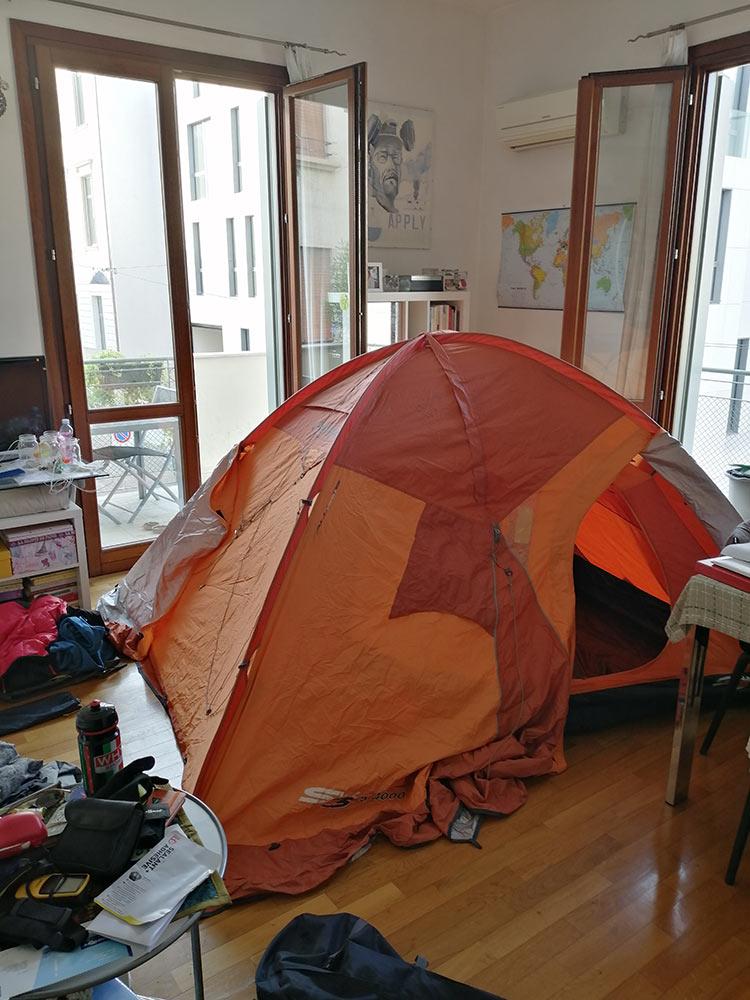 Controllare la tenda