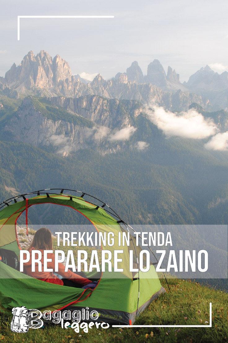 trekking in tenda preparare lo zaino pin