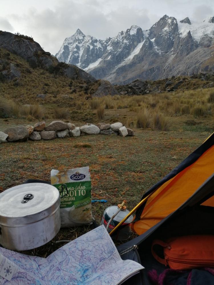 Risotto in busta in tenda