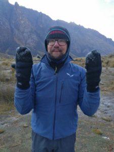 Ghiaccio sui guanti