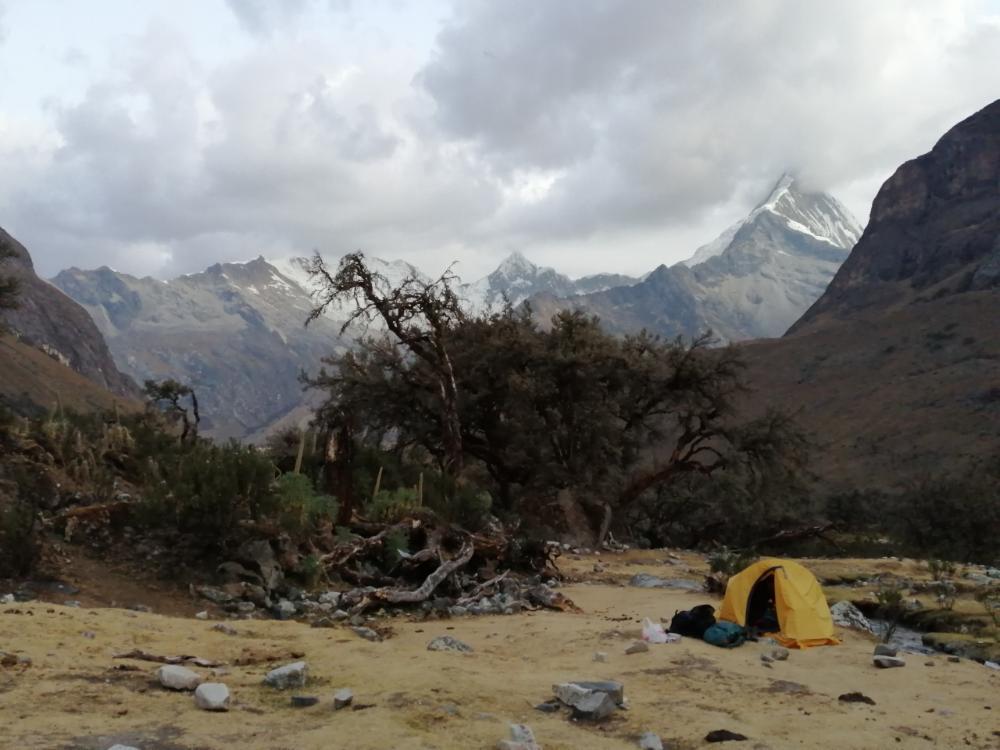 Campo base sull'Alpamayo