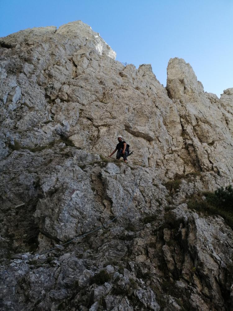 Davide su roccia