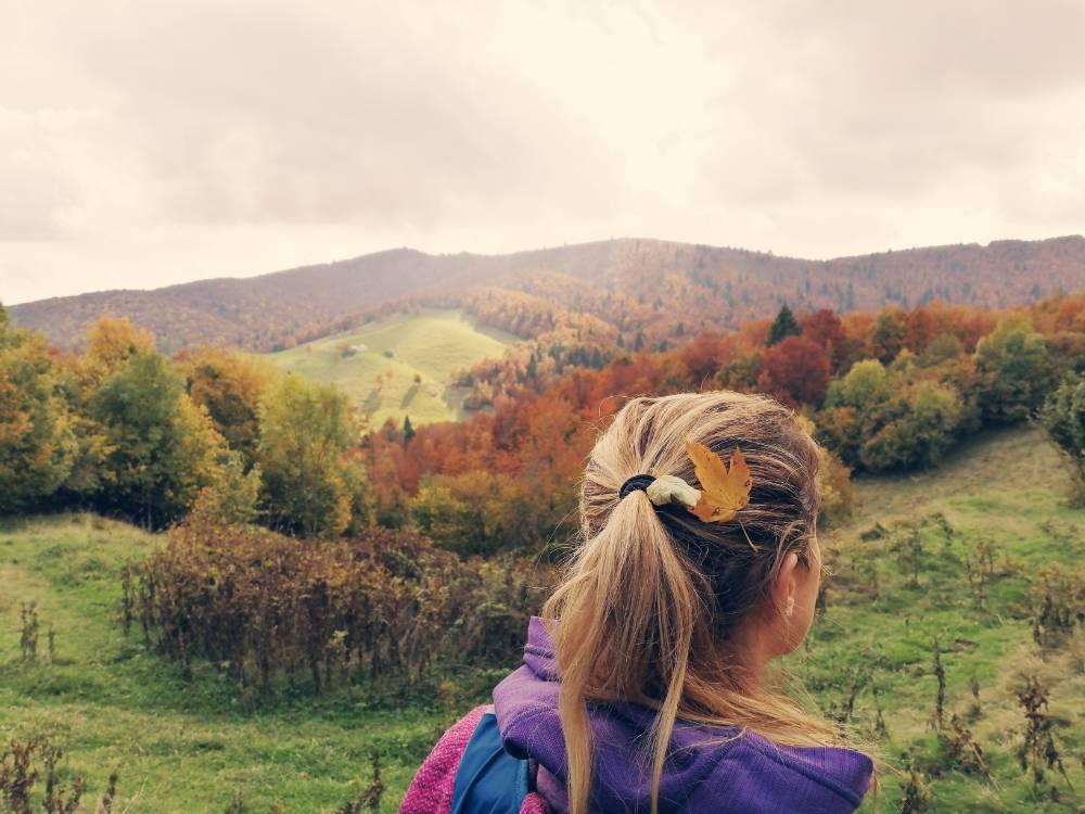 Silvia e le foglie