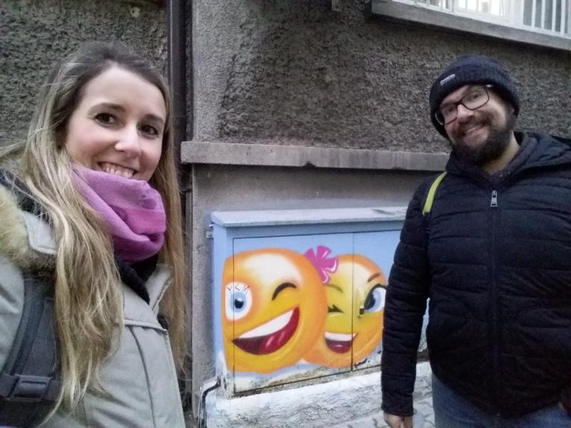 Emoji graffiti a Sofia