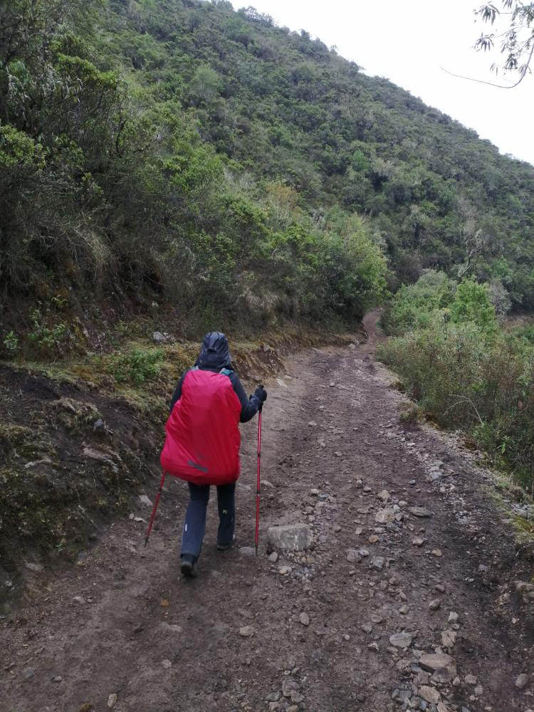 Silvia scende dalle Ande