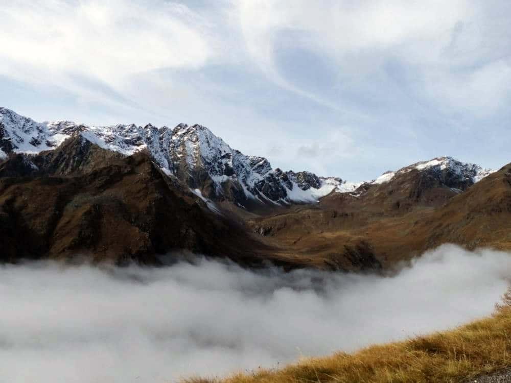 Panorami con nuvole basse