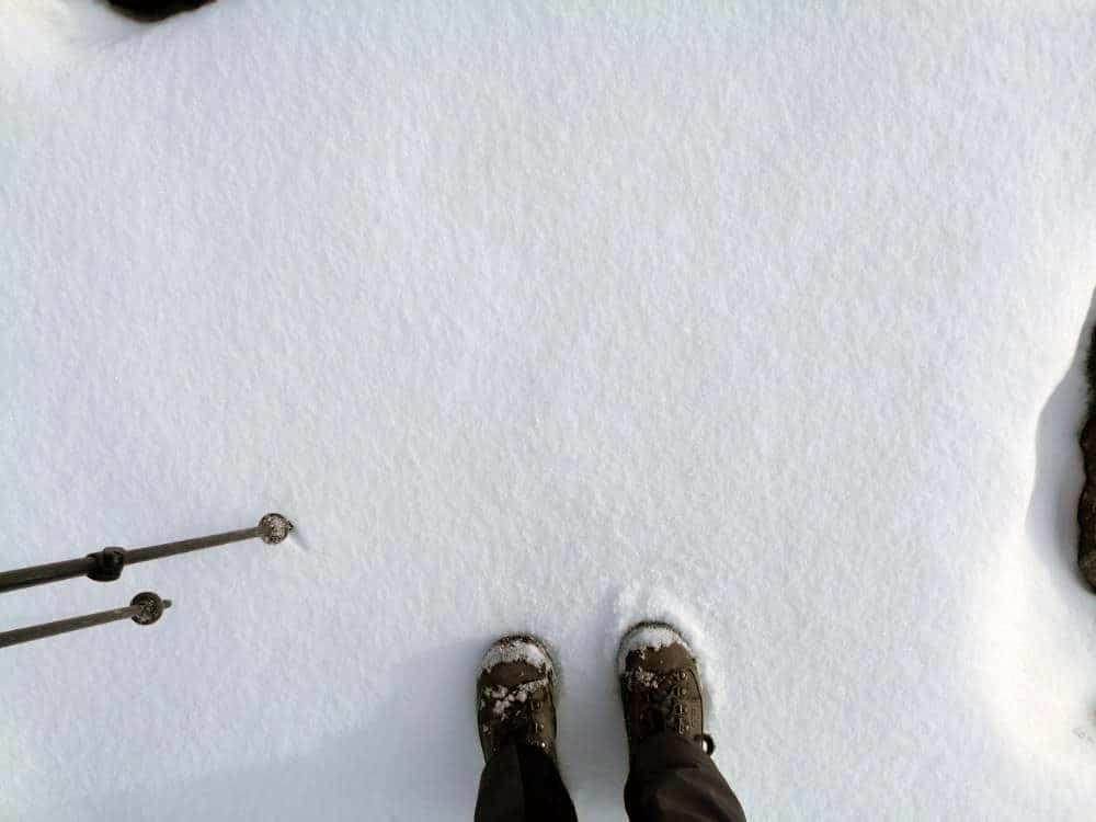 Prima nevicata sotto ai piedi di Silvia