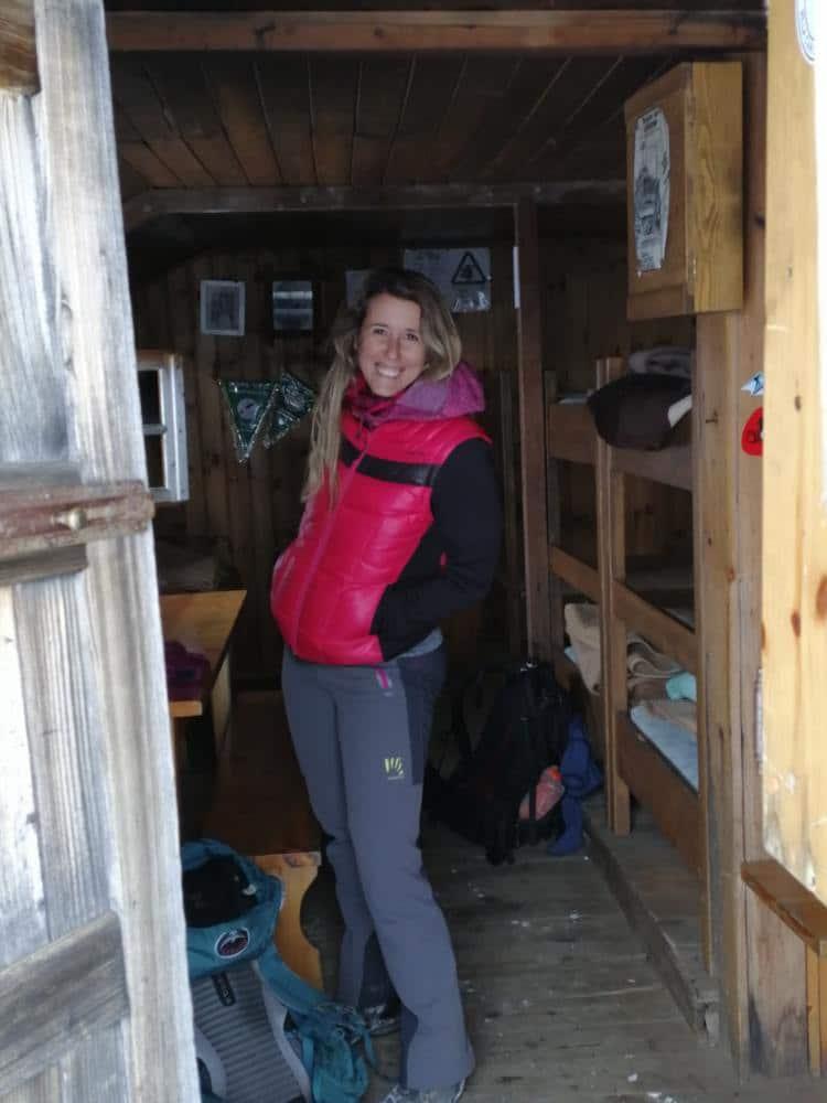 Silvia sulla porta del Monte Ortles