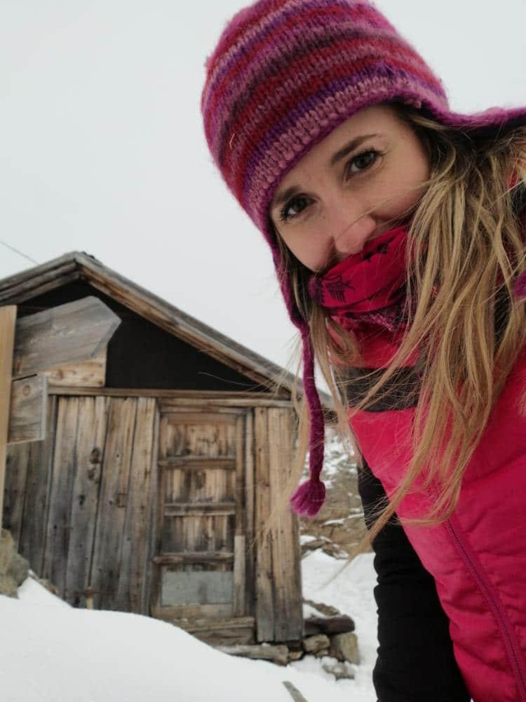 Silvia nella neve