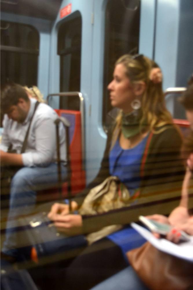 Silvia alla metro
