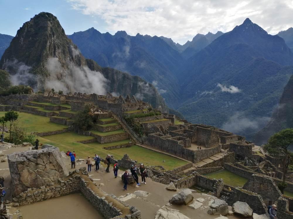 Interno della città di Machu Picchu