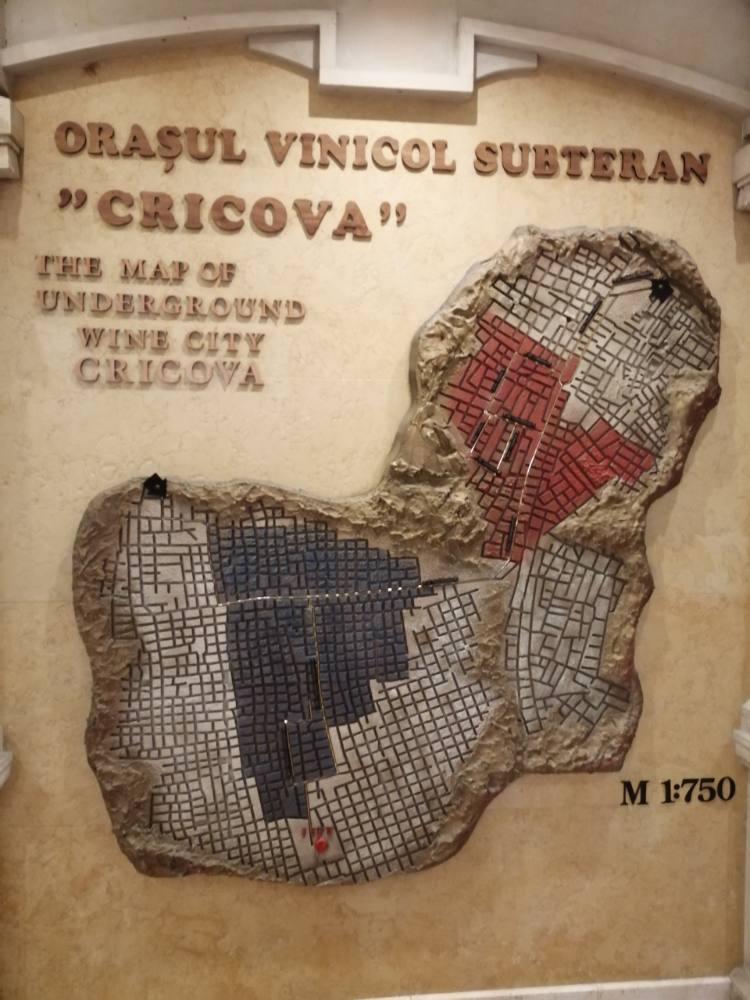 Mappa dei cunicoli di Cricova