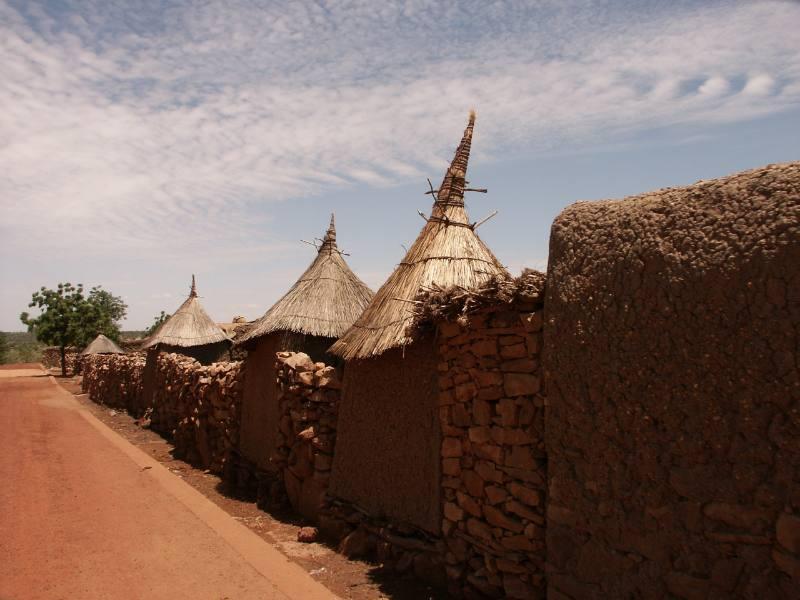 Costruzioni africane in Burkina Faso