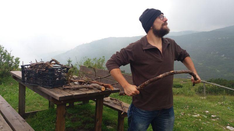 fare legna in bivacco