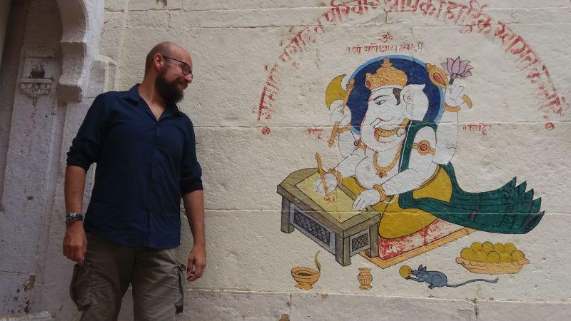 davide e la scrittura a jaisalmer