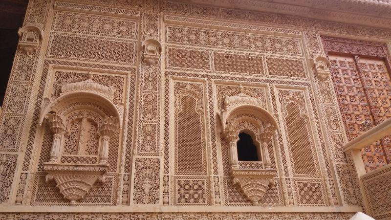 intarsi di pietra a jaisalmer