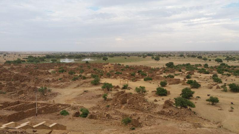 città abbandonata nel deserto