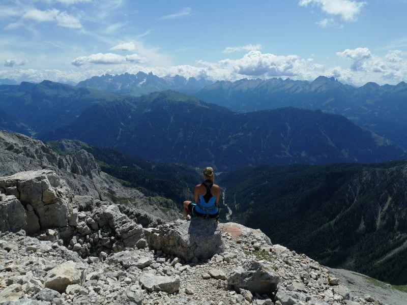 Silvia e il panorama da torre diamantidi