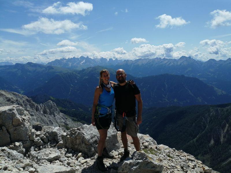 Silvia e Davide in cima a torre diamantidi