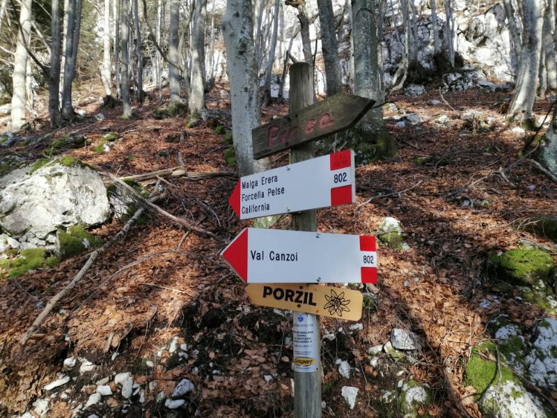 sentiero del porzil