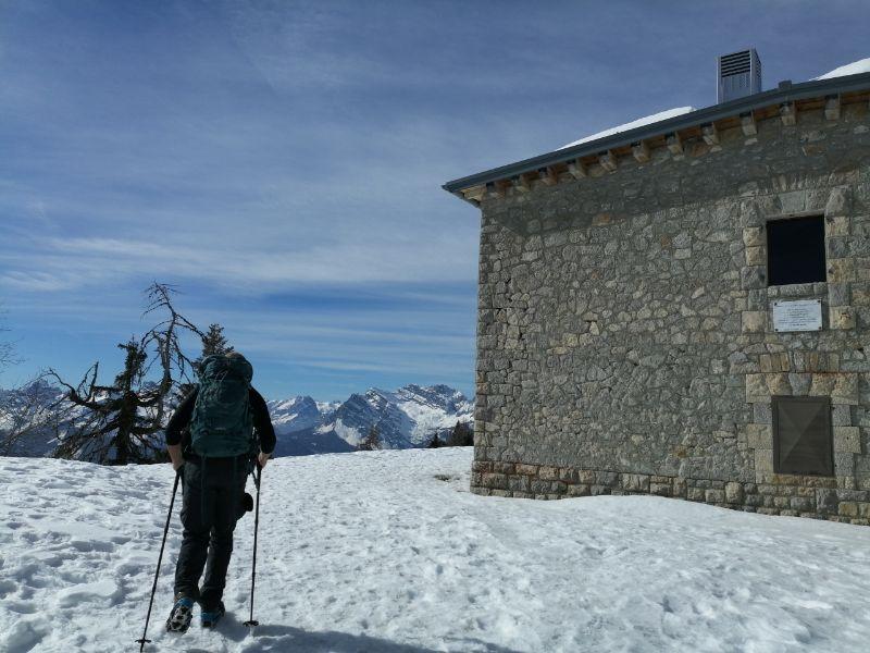 Davide in salita verso il Monte Rite