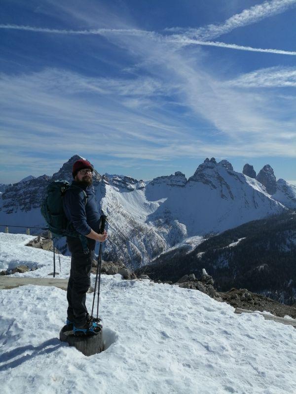 il grandioso panorama del Monte Rite
