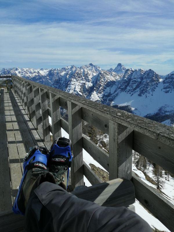 terrazza del Rifugio Dolomites