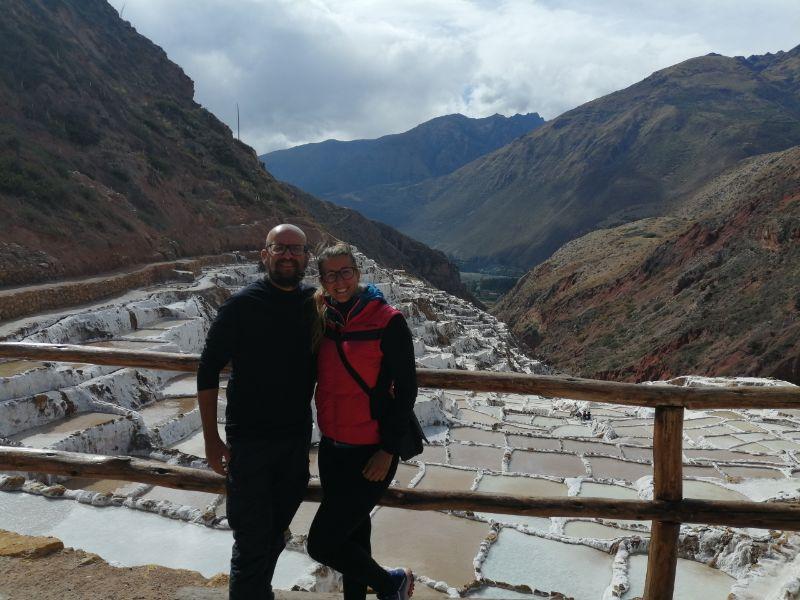 Davide e Silvia alle saline Maras