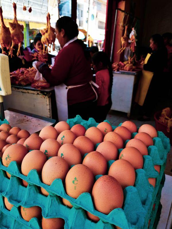 uova al mercato di huaraz
