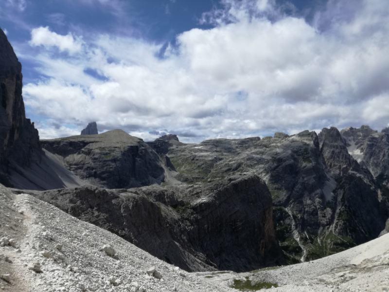 Scendendo dal Monte Popera