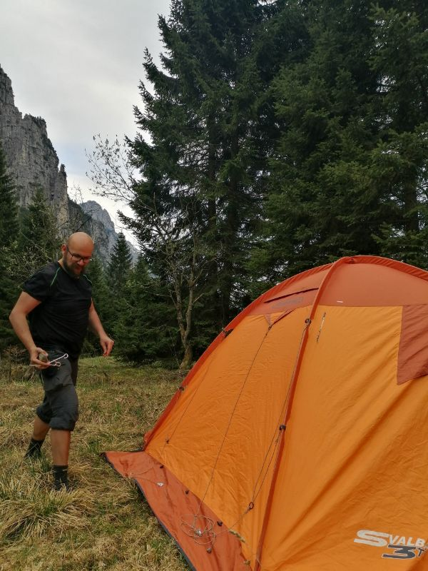 davide davanti alla tenda
