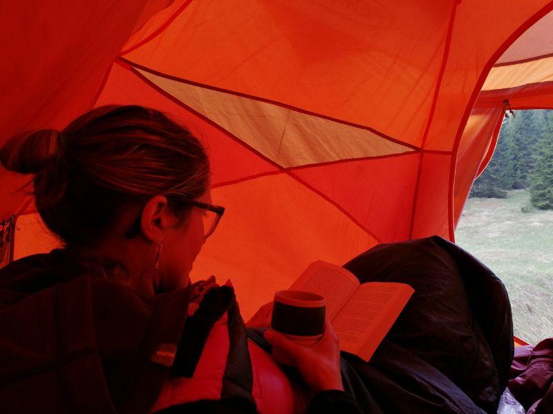 relax dentro la tenda