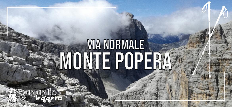 La via normale al Monte Popera
