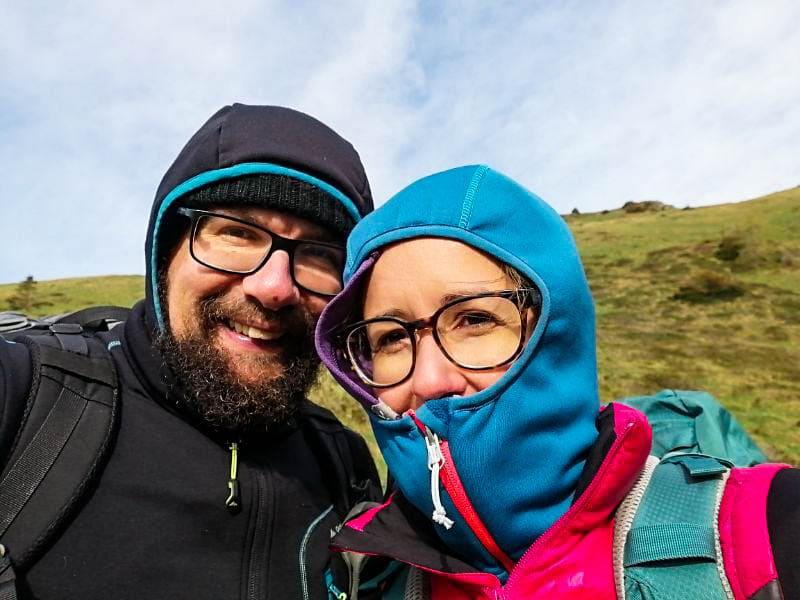 Silvia e Davide al freddo in tenda