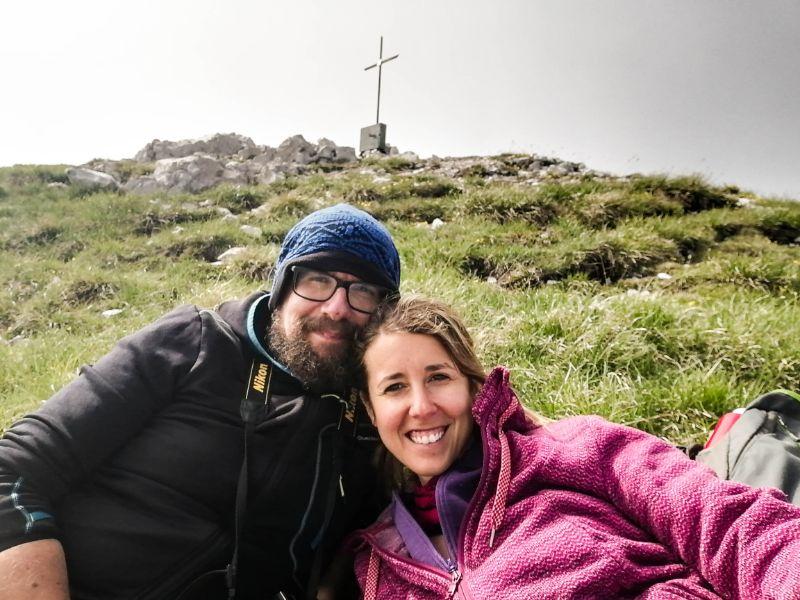 Silvia e Davide in cima al Monte Borgà