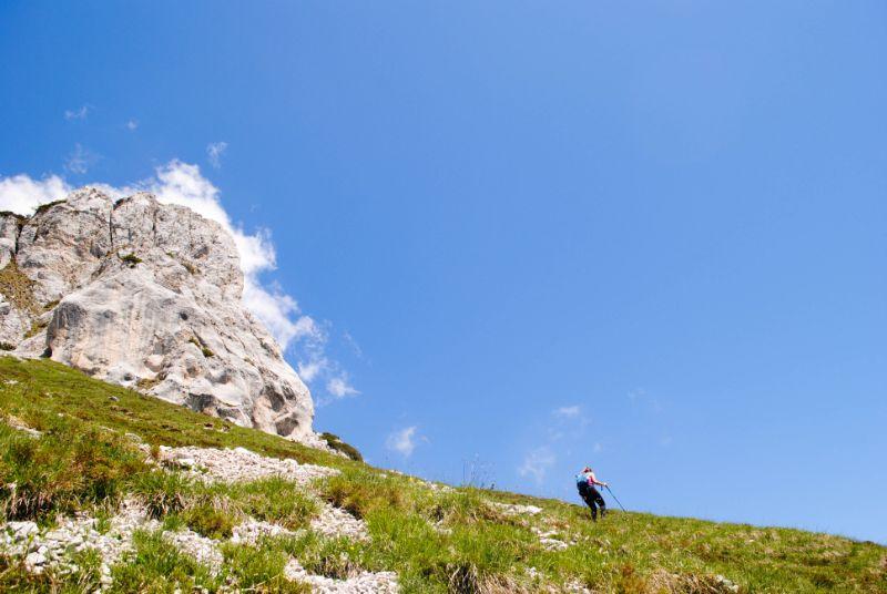 Silvia verso il Monte Salta in montagna da sola