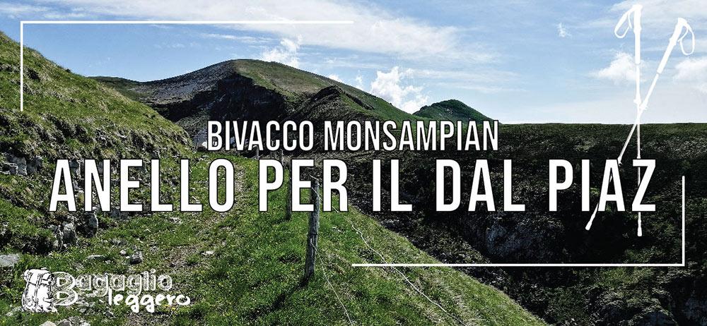 Bivacco Monsampian e anello con il Rifugio Dal Piaz