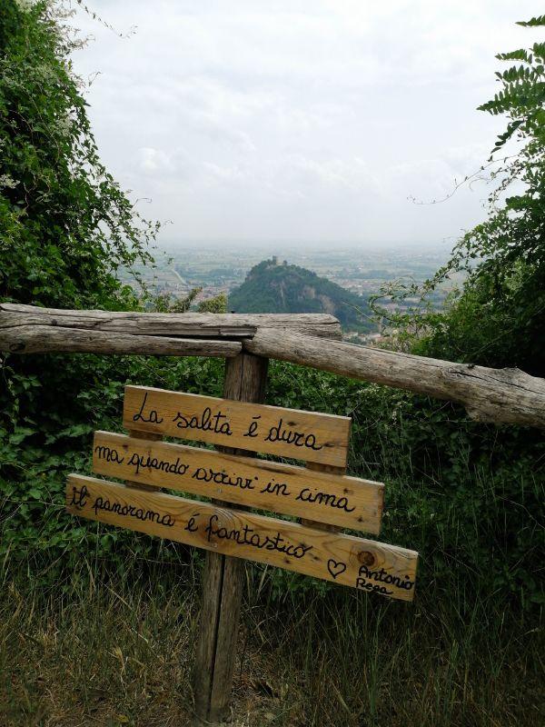 cartello salita Monte Ricco
