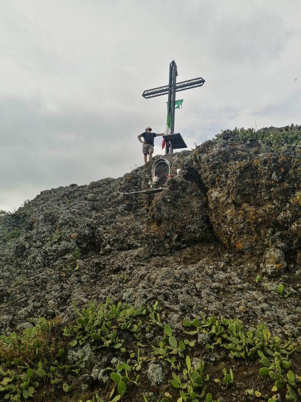 Davide in cima al Monte Ceva