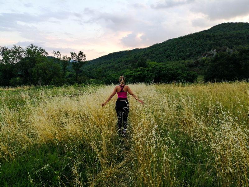 Silvia verso il tramonto sui Colli Euganei