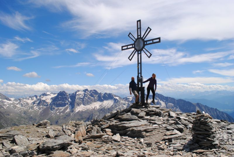 Silvia e Davide in cima al Picco Palù
