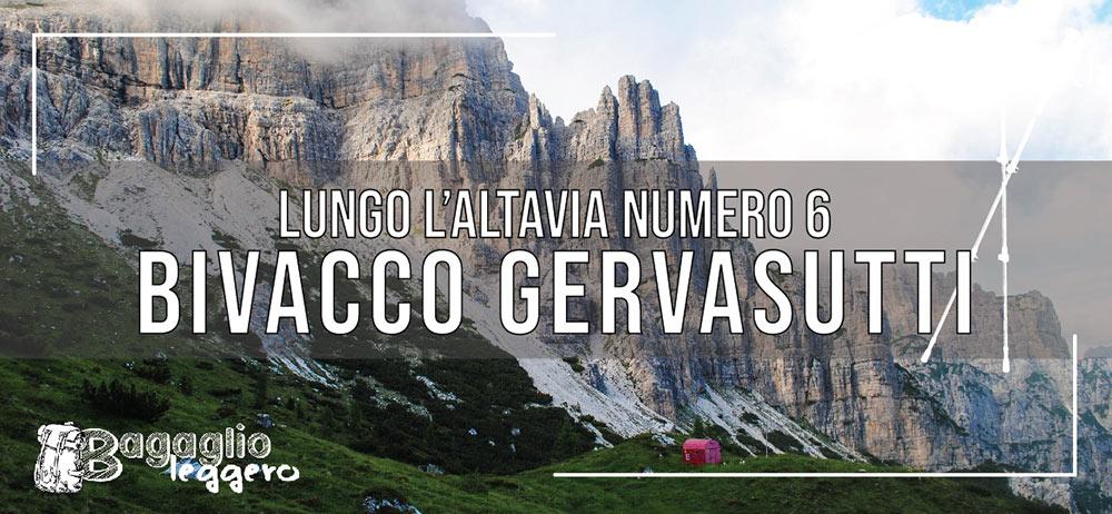 Il bivacco Gervasutti lungo l'Altavia numero 6