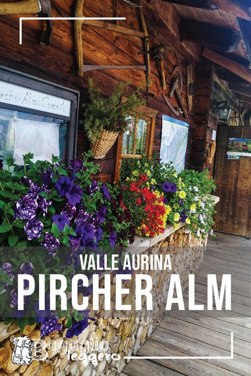 Pircher Alm malga in Valle Aurina pin