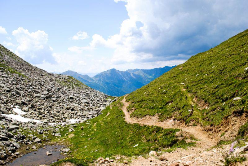 sentiero valle aurina
