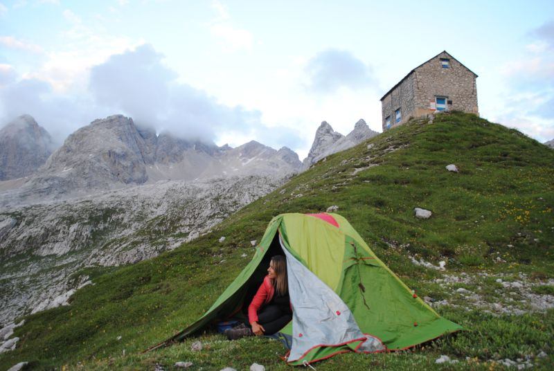 trekking di più giorni in tenda