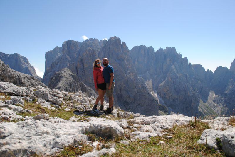 Silvia e Davide alle Pale di San Martino