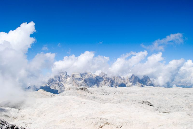 panorama ghiacciaio Fradusta Pale di San Martino