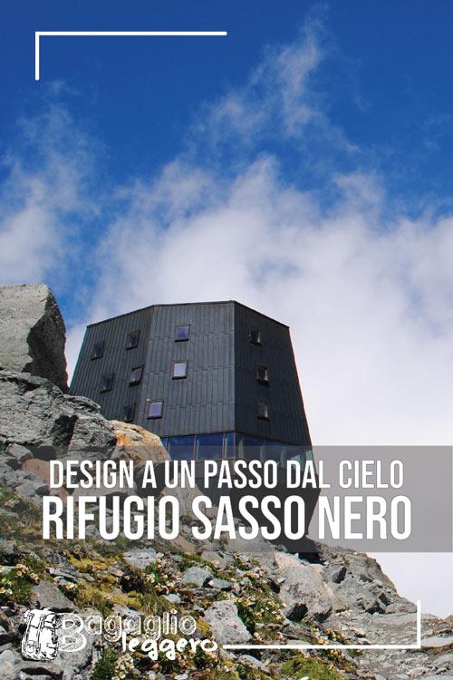 Rifugio Sasso nero design in valle Aurina pin