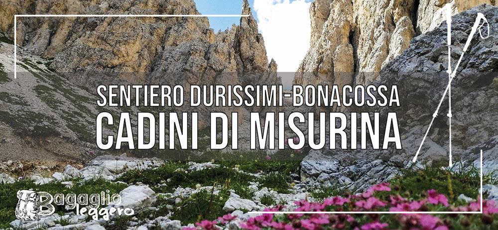 Sentiero Durissini, Bonacossa, Cadini di Misurina